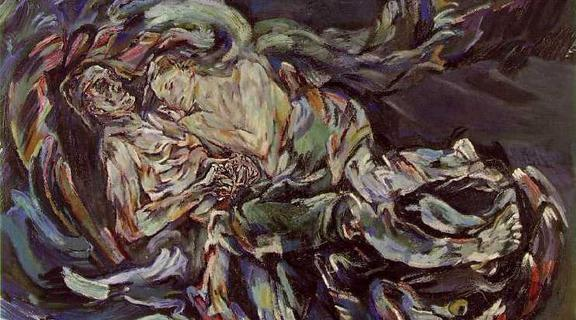 Homepage  bride of the wind   oil on canvas painting by oskar kokoschka  a self portrait expressing his unrequited love for alma mahler  widow of composer gustav mahler   1913
