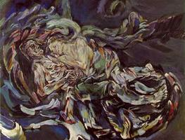Small__bride_of_the_wind___oil_on_canvas_painting_by_oskar_kokoschka__a_self-portrait_expressing_his_unrequited_love_for_alma_mahler__widow_of_composer_gustav_mahler___1913