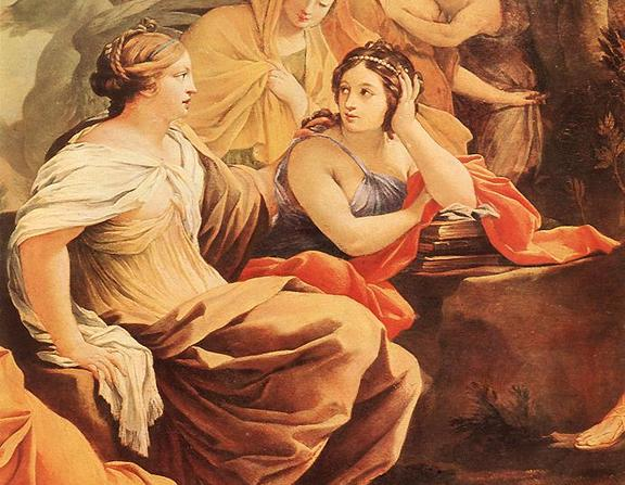 Large simon vouet   parnassus or apollo and the muses  detail    wga25374